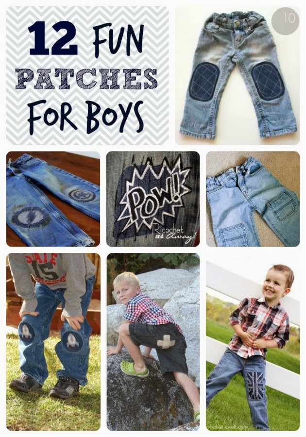 12 fun patches for boys
