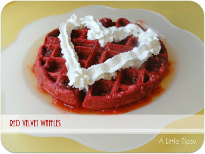 valentines recipe red velvet waffles 1