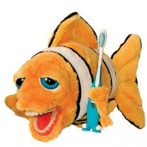 Brushing Teeth Clow Fish Plush Toy