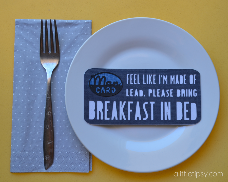 Father's Day Man Card - Breakfast in Bed