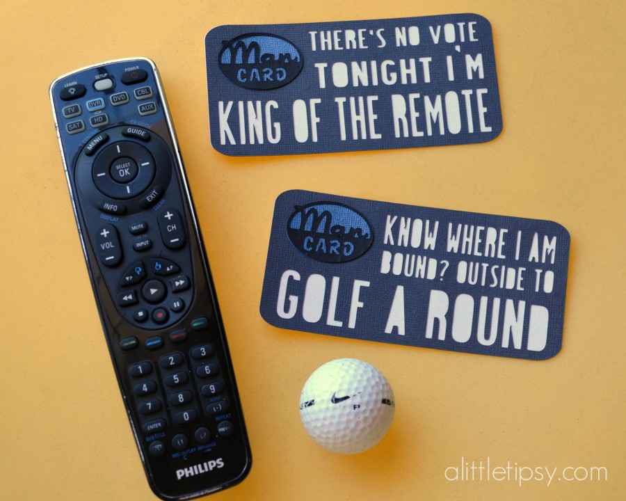 Father's Day Man Cards - Golf and Remote