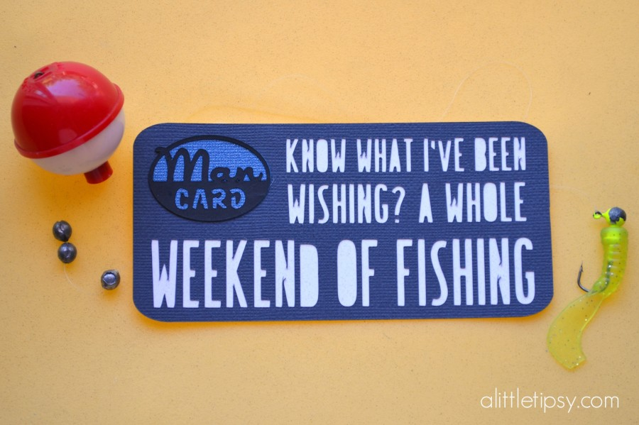 Man Card for Father's Day - Fishing