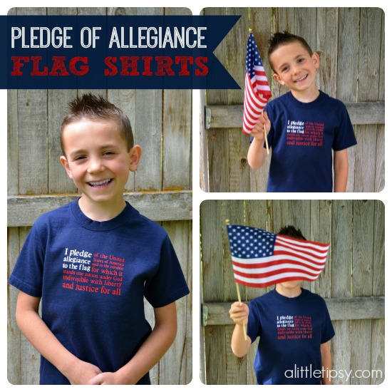 4th of July Pledge of Allegiance Flag Shirts