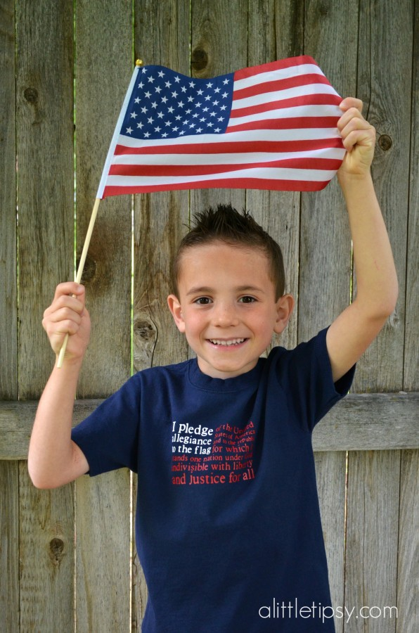 4th of July Shirt Pledge of Allegiance Flag