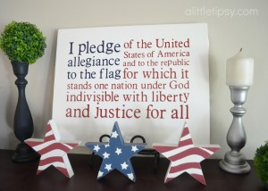 Pledge of Allegiance Flag Canvas