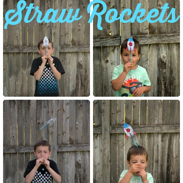 Straw Rockets Kids Summer Activity