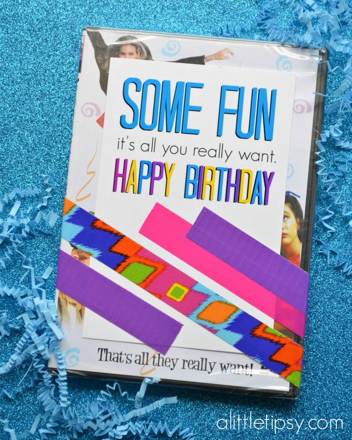 Girls Just Want to Have Fun Birthday Gift with free printable