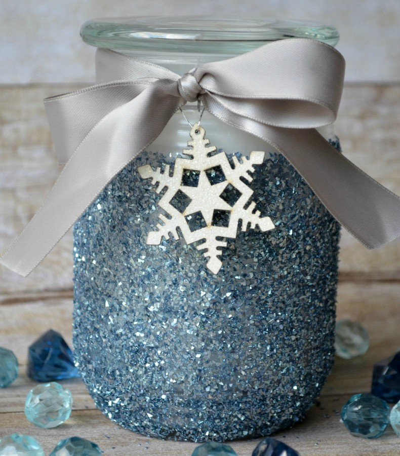 Snow Glitter Candle