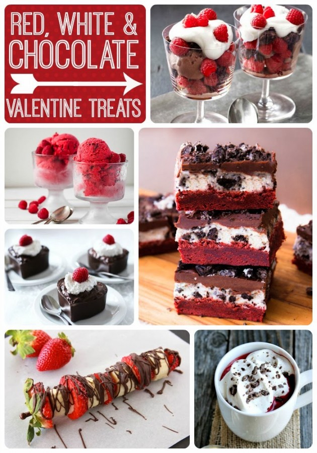 Red White & Chocolte Valentine Treats