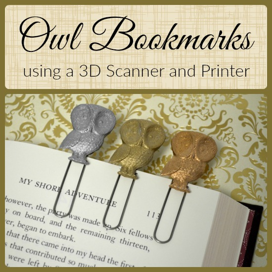 3D Scan and Print Metallic Owl Bookmarks #HPSprout
