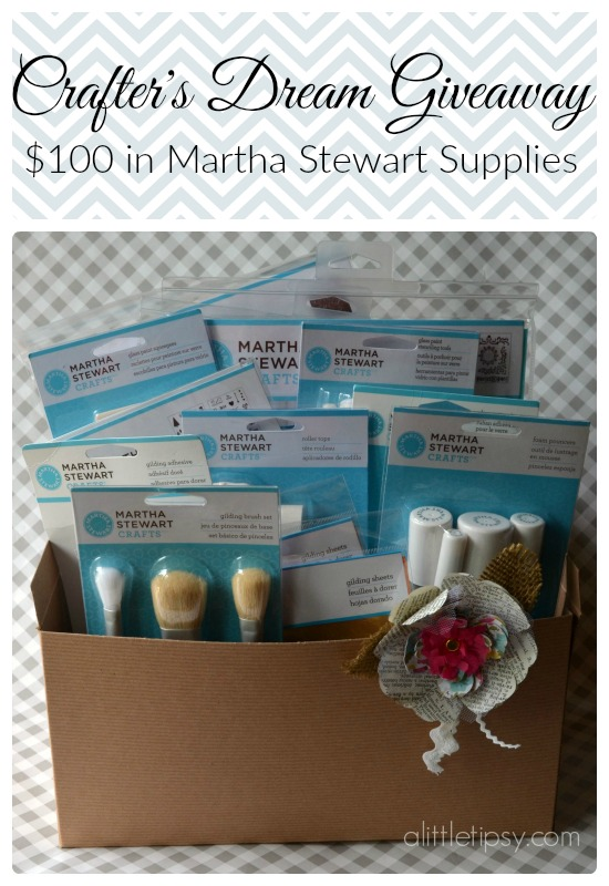 Crafter's Dream Giveaway - $100 in Martha Stewart Craft Supplies