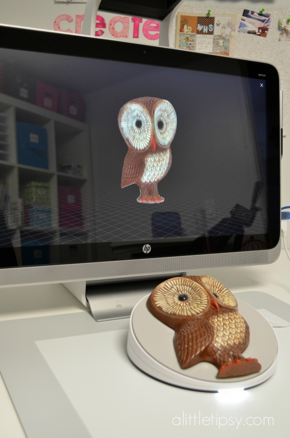 HP Sprout 3D scanning with stage how to