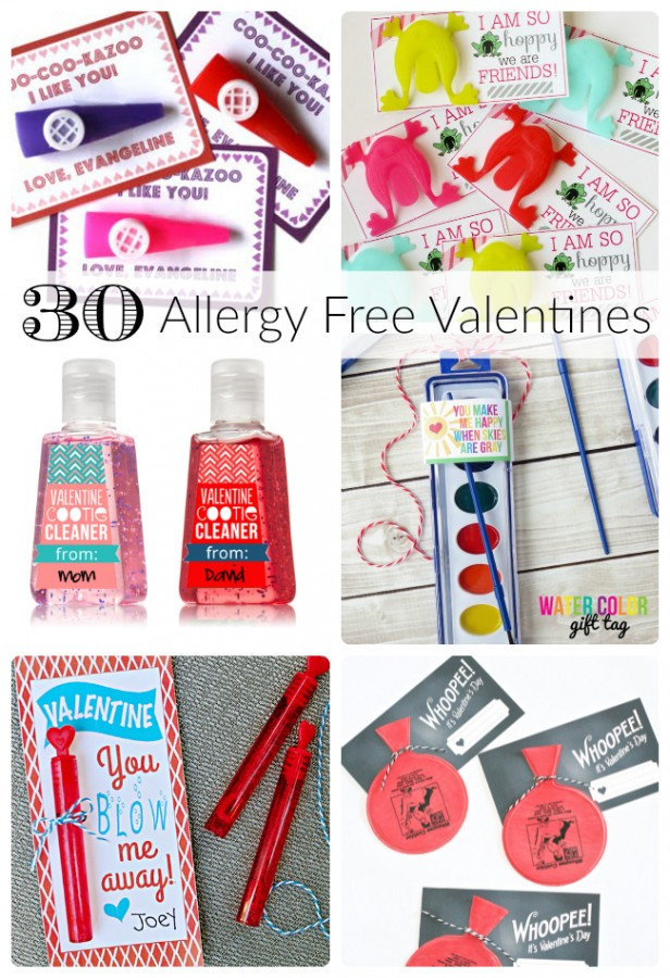 No Candy Allergy Free Valentines