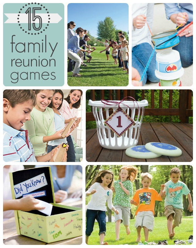 Family Reunion Games Collage