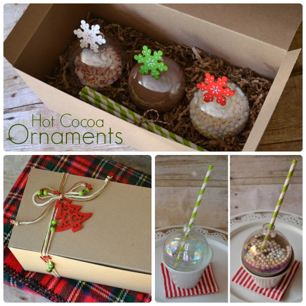 Learn how to make hot cocoa ornaments - a super cute gift idea for Christmas!